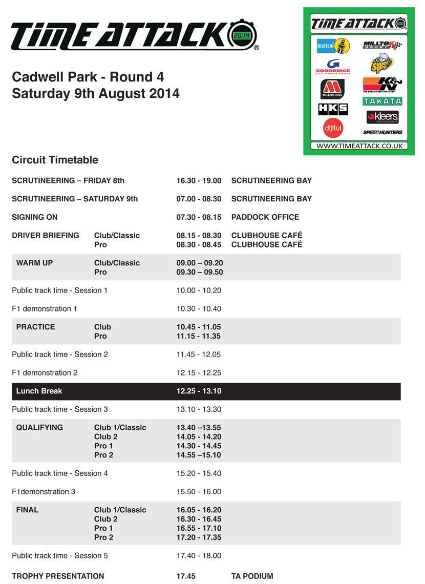 cadwell-timetable